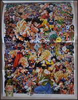 Auf diesem Poster tummeln sich alle Charaktere des Dragon Ball-Universums