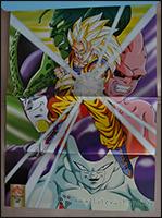 Goku und die vier großen Feinde aus Dragon Ball und Dragon Ball Z