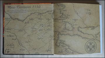 Der Vorsatz mit einer Karte der Maus-Territorien