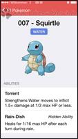 Eintrag des Pokémons mit Grundinfos