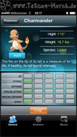 Eintrag des Pokémons mit Grunddaten, etc.
