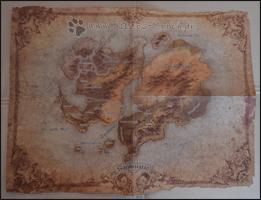 Die Karte von Sanktuario im schönen Used-Look