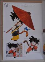 Son-Goku in verschiedenen Posen und Kleidern