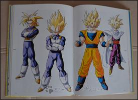 Die vier Super-Saiyajins zur Zeit der Cell-Saga