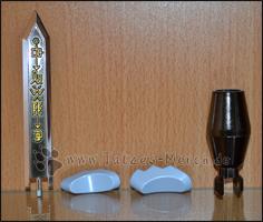 Das Grey Sword, die beiden Unterkiefer von MetallGarurumon und die Garuru Cannon