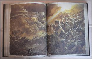 Eine Szene aus dem Krieg zwischen Himmel und Hölle