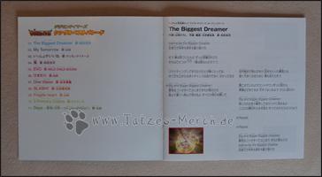 """Ein Auszug aus dem Booklet mit den Lyrics zu """"The Biggest Dreamer"""""""