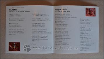 """Die Lyrics zu """"SLASH!!"""" und """"Fragile heart"""""""