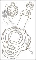 """Die Abbildung des D-Arc aus der """"Digimon Animation Chonicle"""""""