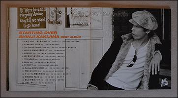 """Die Trackliste im Booklet von """"Starting Over"""""""