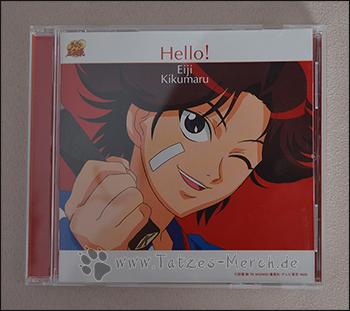 """Das Cover der Prince of Tennis-Charakter-CD """"Hello!"""" von Eiji Kikumaru"""