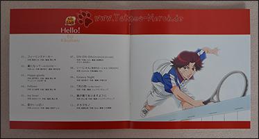 Die Trackliste im Booklet mit einem Eiji in Action ;)