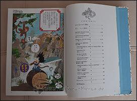 Das Inhaltsverzeichnis und die erste Seite des Manga machen den Anfang des Artbooks