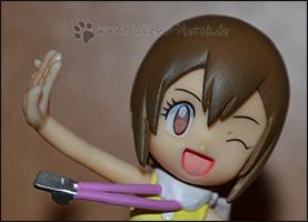 Die Detailaufnahme von Hikaris zweitem Gesicht