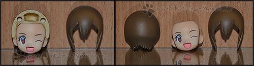 Der Kopf ist in drei Teile teilbar - so lässt sich das Gesicht tauschen