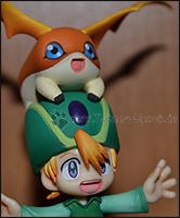 Detailaufnahme von Takerus und Patamons Gesichtern =)