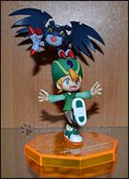 Als Gag: ein fröhlicher Takeru mit PicoDevimon - ein niedliches Team, finde ich ^^