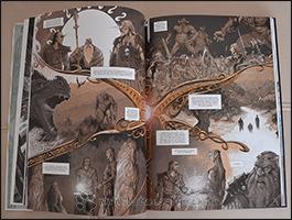 Der Streit der zwei Brüder und die Verteilung von Midgard zwischen Menschen und Elben wird Thor in einer Vision gezeigt