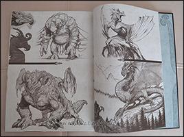 Drachen und andere Wesen, die im Comic vorkommen