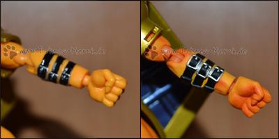Die Muskeln kommen bei der Designer Edition (rechts) viel schöner raus.