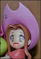 Mimi mit ihrem Cowboy-Hut ;)