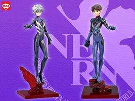 Kaworu und Shinji im Set