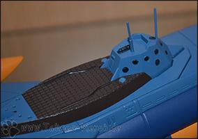 Detailaufnahme der Kommandobrücke und des Decks der Nautilus.