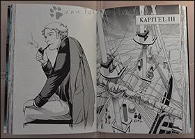 Am Ende jedes Kapitels gibt es eine typische Darstellung bestimmter Besatzungsmitglieder - hier Commander James Fitzjames beim Pfeiferauchen =)