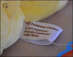Auch ein Label am Pokémon selbst sichert uns hier ein offizell lizenziertes Produkt zu