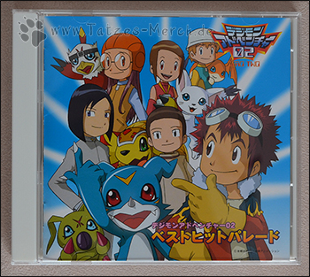 "Das Cover des Album ""Digimon Adventure 02 - Best Hit Parade"""