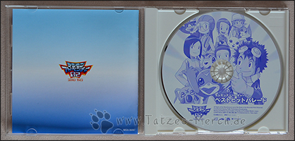 Die CD zeigt das Motiv des Covers in einer Farbe