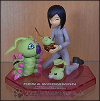 Ken mit Leafmon, Minomon und Wormmon