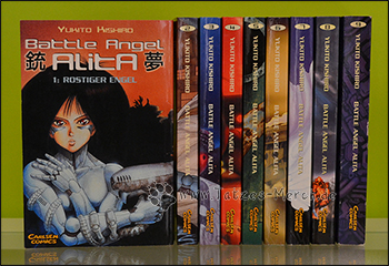 """Battle Angel Alita"" Band 1 bis 9 (komplett)"